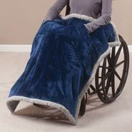 Wheelchairs & Accessories - Ultra Plush Wheelchair Blanket