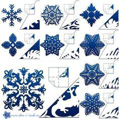 Снежинки из бумаги своими руками. Схемы вырезания и шаблоны для распечатывания. | Частный Дом