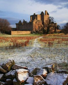 14th century Craigmillar Castle, Scotland, Mary Queen of Scots stayed at the castle from November to December 1566