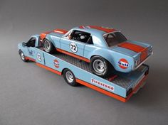 Gulf Racing Mustang | ... : Mon Apr 21, 2014 12:35 pm Post subject: Gulf Mustang with Ramptruck
