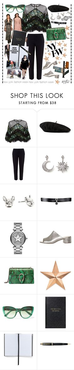 """NEW YORK FASHION WEEK GLAM"" by denizatay ❤ liked on Polyvore featuring Costarellos, Gucci, Chloé, Amrita Singh, Fallon, Marc Jacobs, Topshop, Thos. Baker, Elie Saab and Dolce&Gabbana"