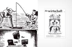 illustration for a business magazine, max und moritz, ballpen