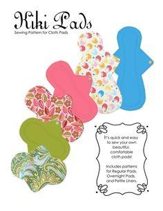 Kiki Cloth Pads Sewing Pattern PDF Pattern by UberDomestic on Etsy Sewing Hacks, Sewing Crafts, Sewing Projects, Sewing Tips, Sewing Tutorials, Sewing Ideas, Craft Projects, Clothing Patterns, Sewing Patterns