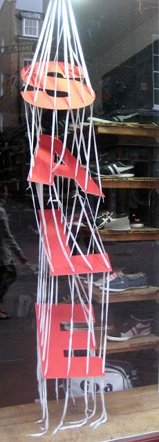SALE letters...hanging by a string...www.retailstorewindows.com: Gola, London