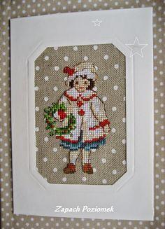 ZAPACH POZIOMEK: Kolejne kartki................ Cross Stitching, Cross Stitch Embroidery, Embroidery Patterns, Cross Stitch Patterns, Cross Stitch House, Simple Cross Stitch, Minnie Baby, Christmas Embroidery, Christmas Cross