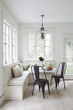 Design Esstisch Stühle Sitbank Fenster Schwarz Stuhl
