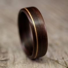 Indian Rosewood Bentwood Ring With Koa Inlay  Handcrafted Wooden Ring.  $195.00, Via Etsy. Mens Wood Wedding BandsWood ...