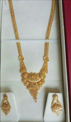 Gold Bangles Design, Gold Jewellery Design, Simple Necklace Designs, Gold Jewelry Simple, Gold Set, Bridal Jewelry, Gold Necklace, Jewels, Jewlery
