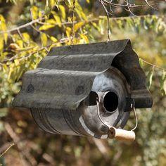 Galvanized Metal Repurposed Birdhouse eclectic birdhouses