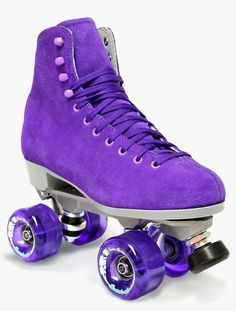 Purple roller boots