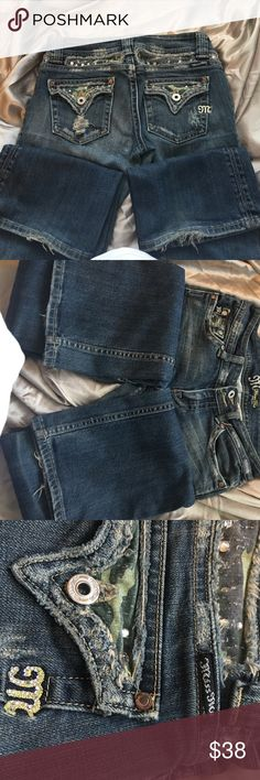Miss me bootleg jeans Cute diamond n camouflage print embellished miss me used condition jeans Miss Me Jeans Boot Cut