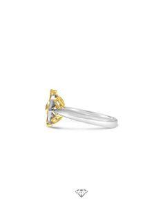 Handmade 18ct yellow and white gold sapphire and diamond engagement ring.