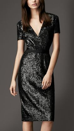 Sequin Crossover Dress | Burberry