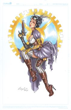 Lady Mechanika copic by Elias-Chatzoudis.deviantart.com on @deviantART