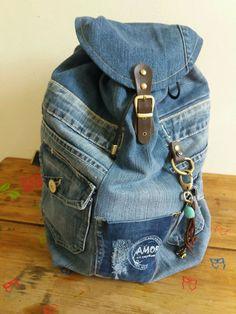 Trendy Jeans, Cute Jeans, Diy Jeans, Mochila Jeans, Jeans Vintage, Ripped Jeans, Skinny Jeans, Jean Backpack, Moda Jeans