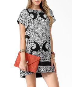 Vestido Batik preto e branco da FOREVER21 (US21.80 - R$43,00). Compre através da LoveForever21.com e receba no Brasil.