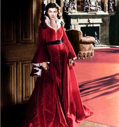 Gone with the wind: A costume from the popular movie from the Crinoline period, beautiful dress!!