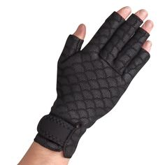 Arthritis Pain Relieving Gloves.  DescriptionSizingTestimonialReviewsGuarantee  This pair of gloves stimulates blood circulation in the hands, promoting relief from arthritic pain while you perform your daily routine or while you sleep. The gloves exert a gentle compression and are lined with a patented material that facilitates blood flow throughout the hands to reduce swelling, improve the mobility of joints and ligaments, and help relieve arthritic pain.