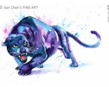 black panther watercolor painting - Google Search