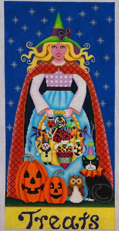 Treats Witch 18 mesh 8x17 in. Reg. $270, Trunk Show $216