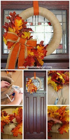 Come see how to make this quick and easy DIY Fall Wreath for a beautiful front…