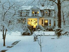 home for the holidays...reminds me of our Dutch Colonial on Highgate...probably my favorite of all my childhood homes.