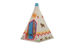 Head to the wild west for a real adventure with this natural cotton canvas Wigwam!