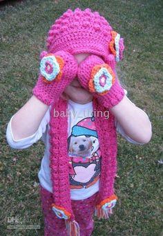 Children's Crocheted Mittens - Sue's Crochet and Knitting