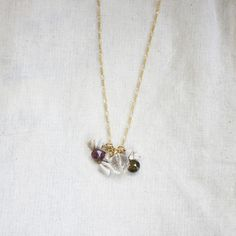 October Birthstone Necklace now featured on Fab.