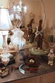 My Romantic Home: Easter Decor - Show and Tell Friday