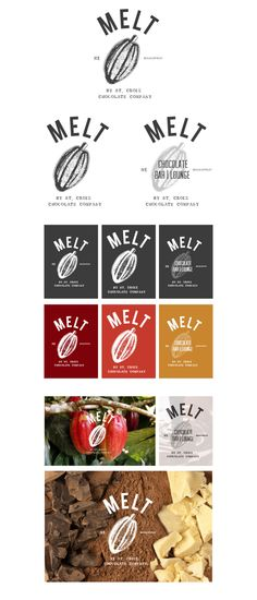 Logo proposal // MELT By St. Croix Chocolate Factory by maria caballer, via Behance