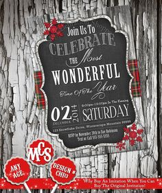 CHRISTMAS INVITATION, Christmas Invite, Christmas Party Invitation, Chalkboard Invitation, Party Invitation, Christmas, Christmas Printable Chalkboard Invitation, Christmas Party Invitations, When You Can, Christmas Printables, Wonderful Time, Rsvp, Unique Jewelry, Handmade Gifts, Christmas Christmas