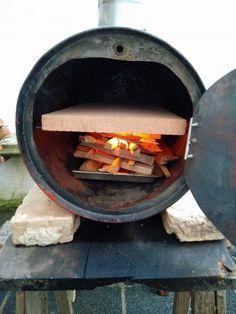 Pizzatonne / Pizzafass / Fassofen | Grillforum und BBQ  www.grillsportver Pizza Oven Outdoor, Outdoor Cooking, Outdoor Kitchen Design, Kitchen Decor, Barrel Stove, Barrel Bbq, Diy Grill, Four A Pizza, Wood Oven