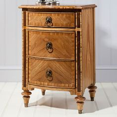 REPRODUCTION, ANY FINISH uk m/ bed, Spire 3 Drawer Bedside Cabinet