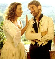 """Beatrice and Benedick. Emma Thompson and Kenneth Branagh were actually married to each other at the time when they filmed """"Much Ado About Nothing"""" Emma Thompson, Film Musical, Best Insults, Theater, Kenneth Branagh, Michael Keaton, Chef D Oeuvre, Star Wars, Romantic Movies"""