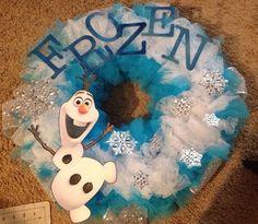 Disney frozen inspired wreath by GlitterlyObsessed on Etsy, $45.00