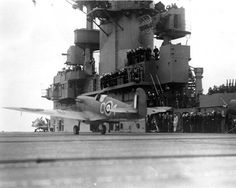 APR 20 1942 Spitfires for Malta are flown off USS Wasp USS Wasp (CV-7). British Royal Air Force Spitfire V fighter takes off from the carrier, after a 200-foot run, May 1942. Probably taken during Wasp's second Malta aircraft ferry mission.USS Wasp (CV-7).