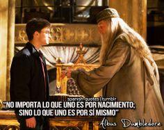 Lo importante es uno mismo :) El sabio Dumbledore