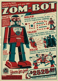 sciences mcanique livre sciences mcanique populaire irup visuel chambre charlot ide chambre jouets robots dinspiration conception graphique d - Affiche Garcon Robot