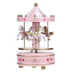 Wooden Merry-go-round Carousel Music Box