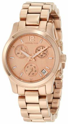 Michael Kors Women's MK5430 Runway Rose Gold Tone Watch:Amazon:Watches