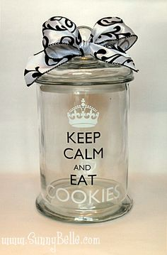 Nice jar.....and good advice.....add cookies, and all is perfect!