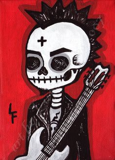 Dead Rock Star  5x7 art print by ArtByLupeFlores on Etsy, $6.99