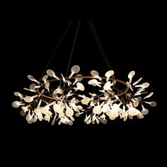 Available in three varying sizes and one large garland of LED Branches. 4 sizes - Measurement in cm: Garland: Height: Diameter: 100 Large: Height: Diameter: 98 Medium: Height: Diameter: 72 Small: Height: Diameter: 50 Cool Lighting, Pendant Lighting, Wall Lights, Ceiling Lights, Leaf Pendant, Light Fittings, Garland, Delicate, Things To Come