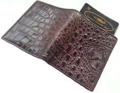 100% Head Section Genuine Crocodile Leather Men's Bifold Wallet Shiny Brown New 100% GENUINE MCROC BRAND NEW FRESHWATER CROCODILE HEAD SECTION SKIN. (RARE & VERY BEAUTY) WALLET.. WALLET SIZE : FULLY OPENED  Length = 7 5/8 Height = 4 6/8  CLOSED  Length = 3 7/8 Height = 4 6/8 (INCHES. , APPOX.). INSIDE: 2 ID CARD TRANSLUCENT COMPARTMENT , 11 CREDIT CARD SLOTS, 2 BILL SLOTS.. COLOR : SHINY BRO... #MCROC #Apparel