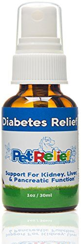 Diabetes In Dogs, Diabetic Supplies For Dogs With Diabetes, Natural Relief, Lifetime Warranty! 30ml Pet Diabetes Support Product, Proven Relief With No Side Effects! Made In USA By Pet Relief * Click on the image for additional details.
