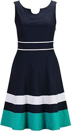 eShakti Women's Piped Trim A-line Dress Frock Fashion, Fashion Dresses, Stylish Dresses, Casual Dresses, Cotton Dresses Online, Velvet Dress Designs, Office Dresses For Women, Classy Work Outfits, Poplin Dress