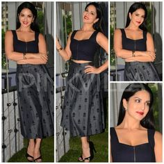 Fashion Faceoff: Ileana D'Cruz or Sunny Leone! Who wore the black top and midi skirt look better? | PINKVILLA