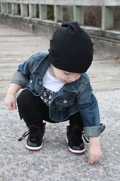 784aacce429 Boys Style featuring VONBON Organic Bamboo Beanie and Harem Leggings  Toddler Fall Fashion