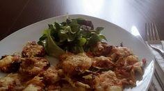 Zucchinipizzinis mit Salat #homemade #leckerschmecker #lowcarb